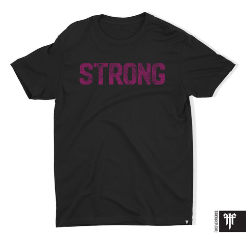 Strong T - Pink on Black