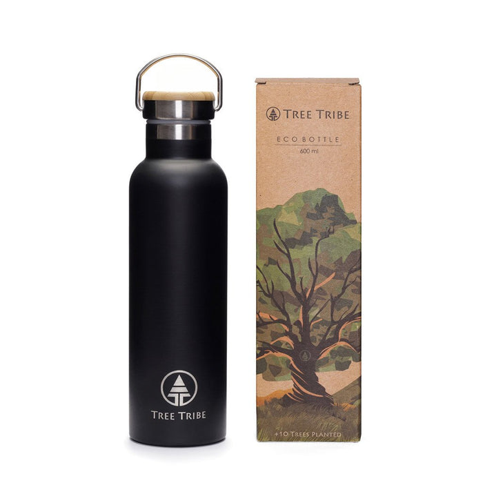 Tree Tribe Eco Water Bottle - Indestructible, Stainless Steel, Insulated, No Sweat, Leak Proof