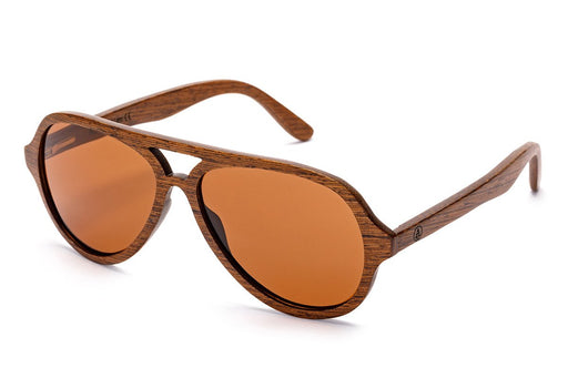 Tree Tribe Wood Aviator Sunglasses with Polarized Lens