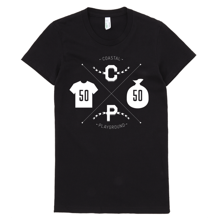 Women's Coastal Crest Tee - Black