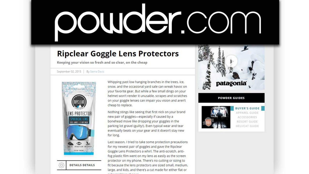 Goggle Lens Protectors for Smith Goggles