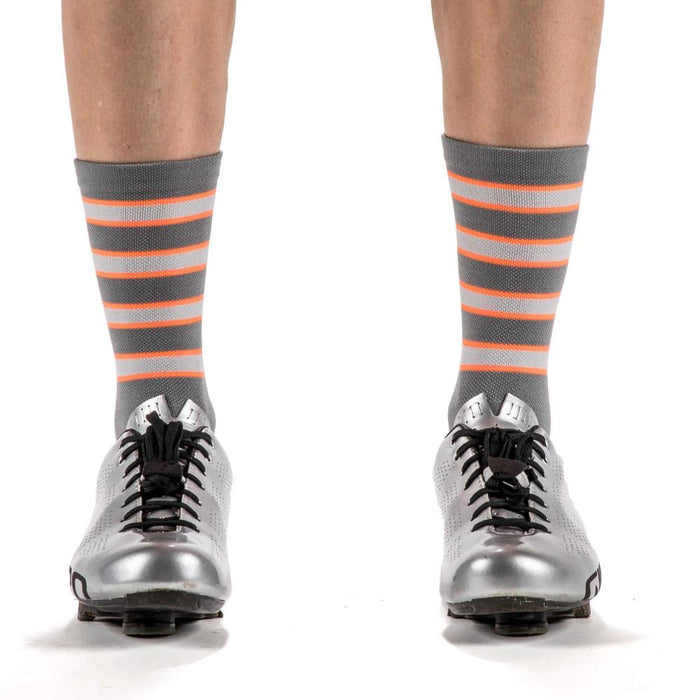 The GBO - Grey and Orange Striped Socks