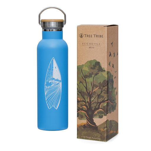 Tree Tribe Insulated, Indestructible Water Bottle - Surf Day and Night