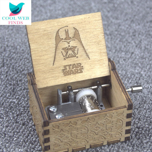 Star Wars Handmade Engraved Wooden Music Box
