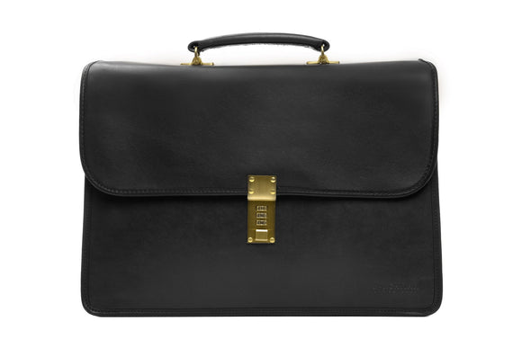 Korchmar LUX ELLIOT - Leather Flapover Briefcase (F1228)