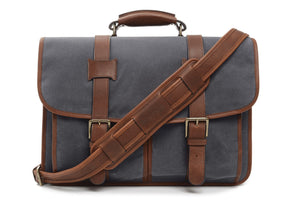 Korchmar GARFIELD - Waxed Canvas Laptop Messenger (F3005)