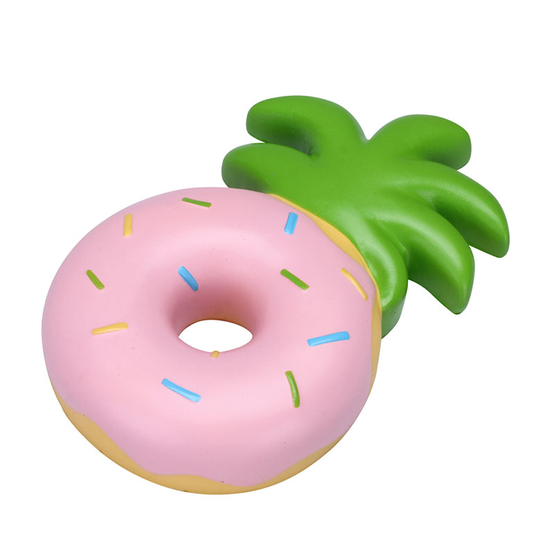 Pink Glazed Pineapple Donut Squishy