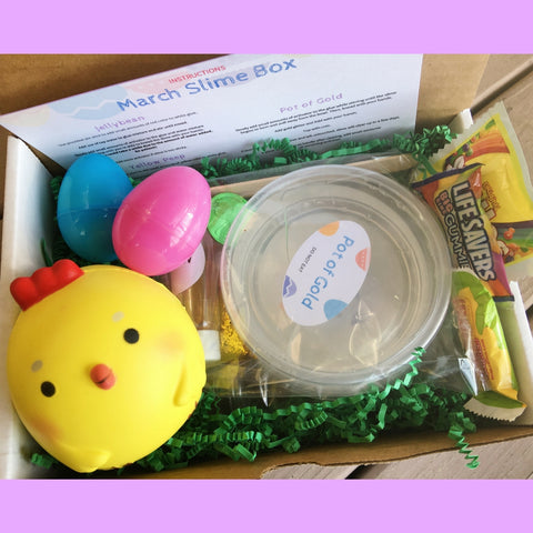 Easter DIY Slime Kit Box with Baby Chick Squishy
