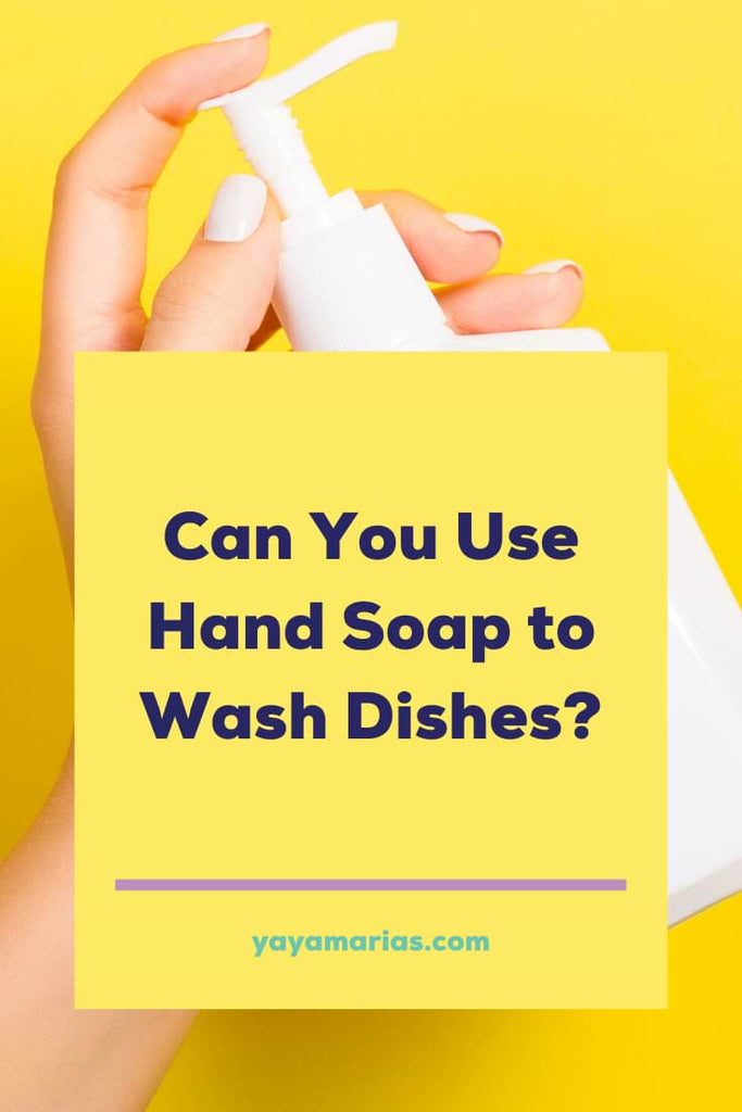 Hand soap to wash dishes
