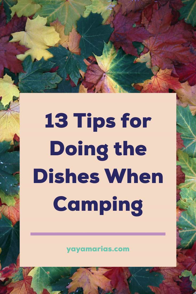 Camping wash dishes