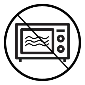 Not microwave safe symbol