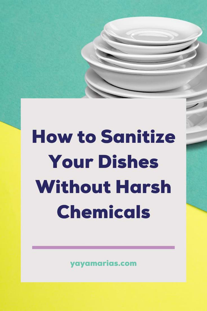 Sanitize dishes with vinegar