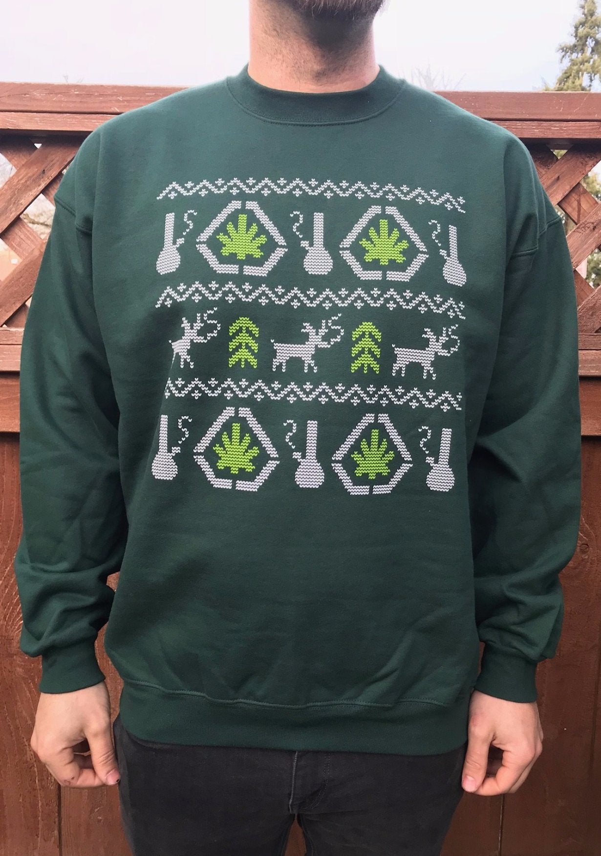 Smoking Deer Crew Neck Sweatshirt