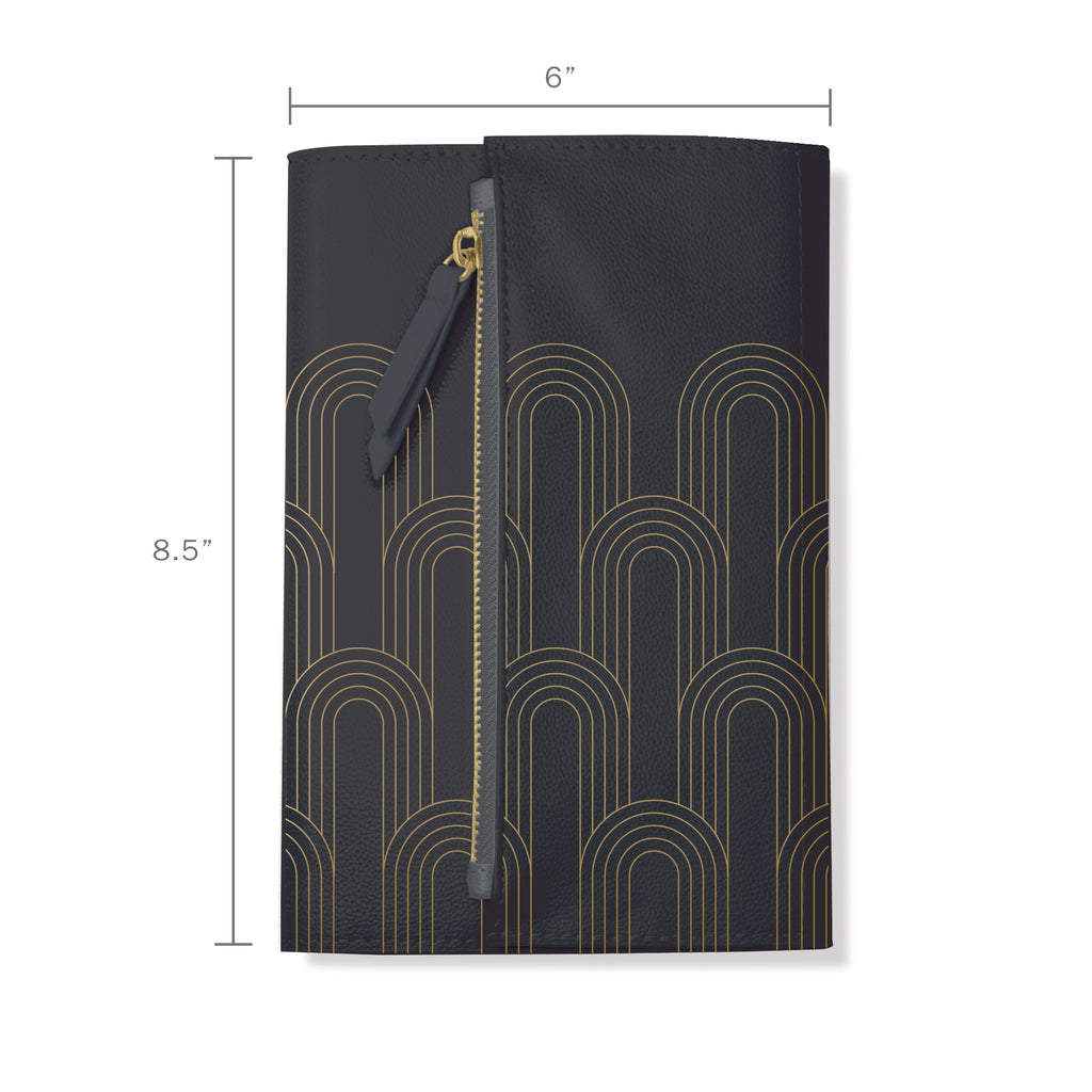 FRINGE STUDIO CHARCOAL DECO CLUTCH JOURNAL