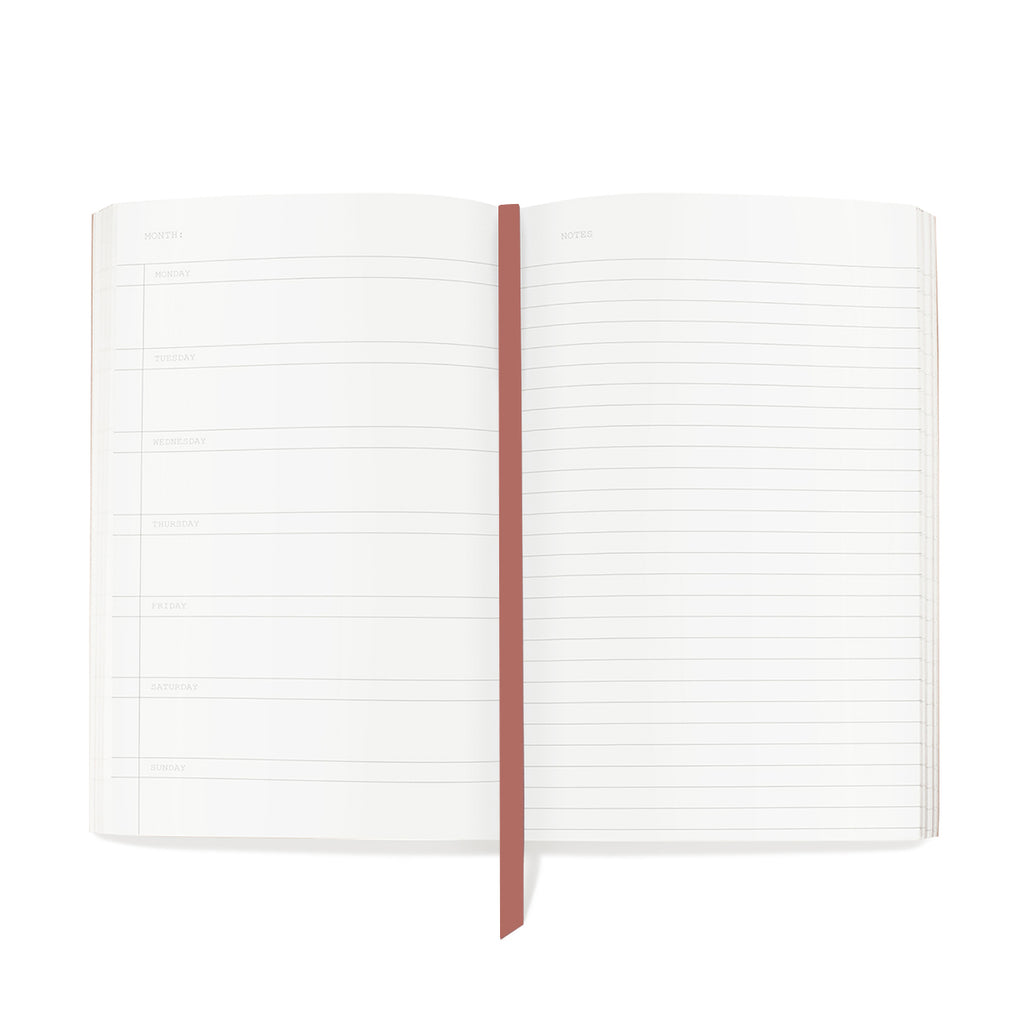 FRINGE STUDIO BLUSH ROSE PLANNER NOTEBOOK
