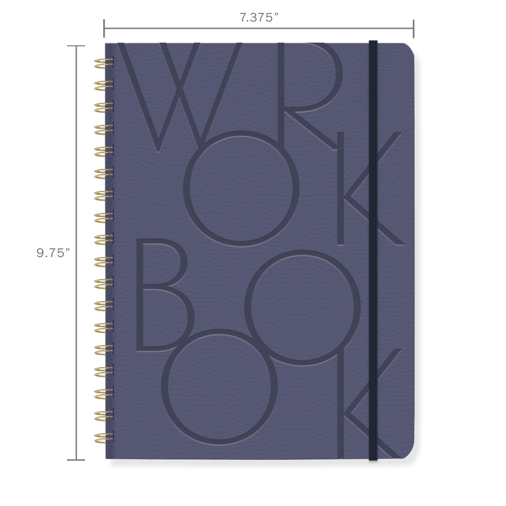 FRINGE STUDIO BOLD TYPE NAVY LARGE WORKBOOK
