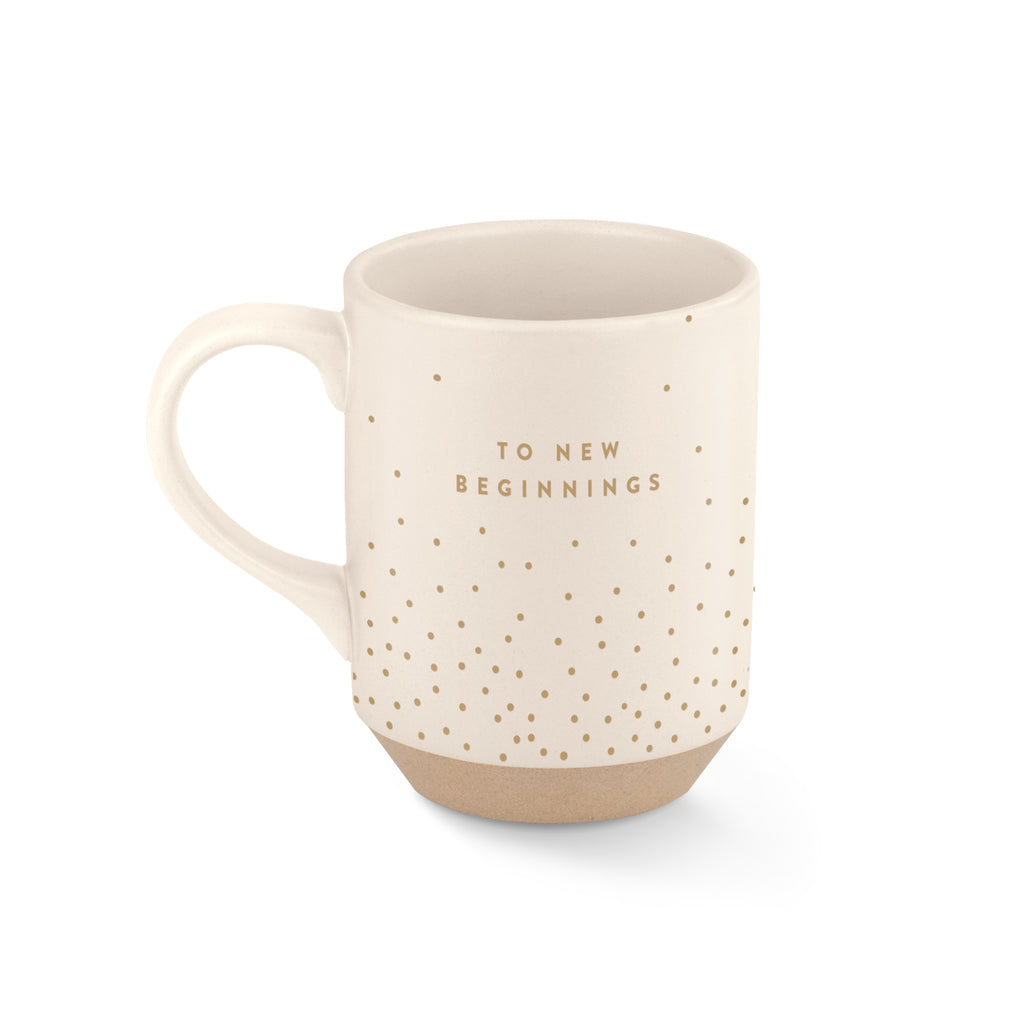 FRINGE STUDIO NEW BEGINNINGS STONEWARE MUG