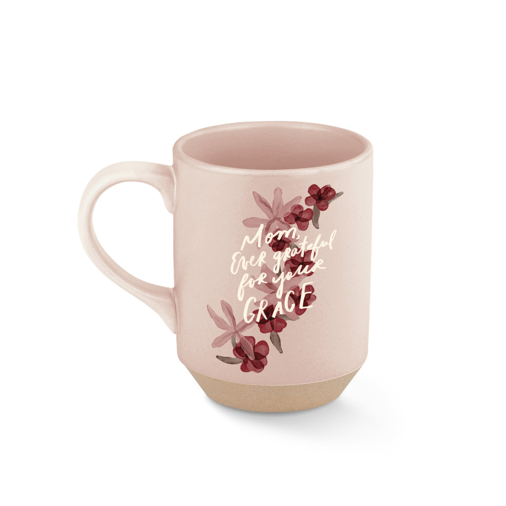 FRINGE STUDIO MOM EVER GRATEFUL STONEWARE MUG
