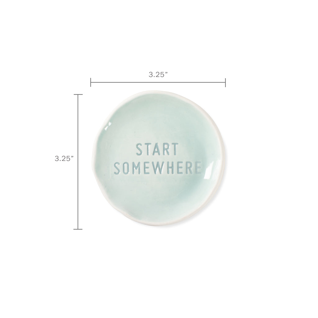 FRINGE STUDIO START SOMEWHERE STAMPED WORD TRAY