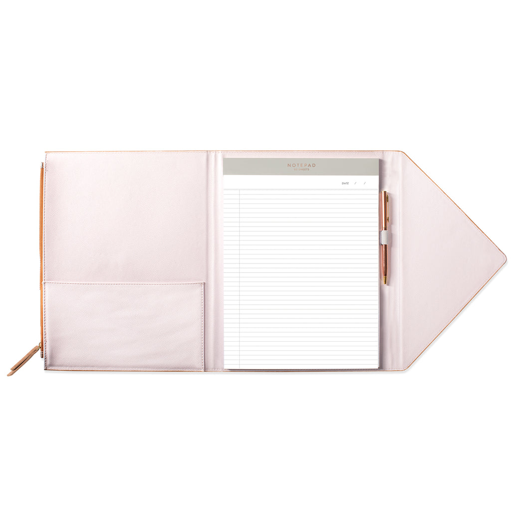 FRINGE STUDIO ROSE GOLD ENVELOPE PADFOLIO