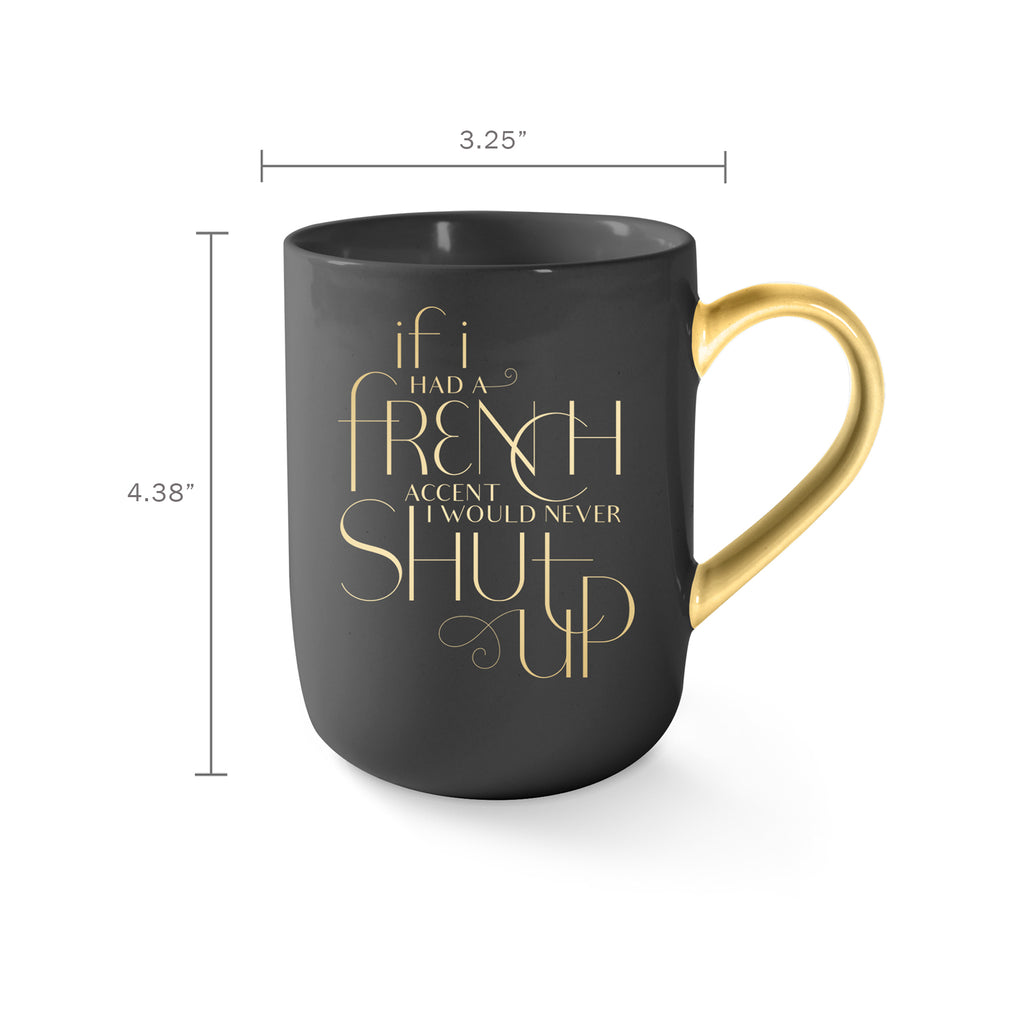 FRINGE STUDIO FRENCH ACCENT MUG