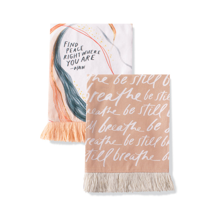 FRINGE STUDIO FIND PEACE TEA TOWEL SET