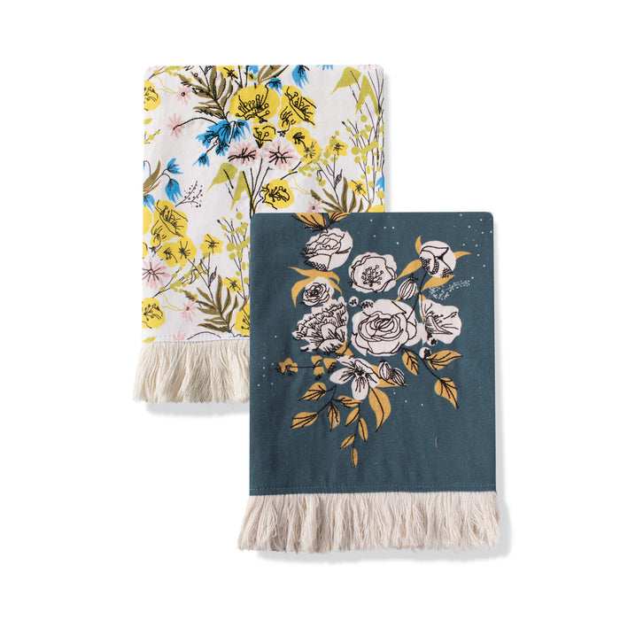 FRINGE STUDIO FLORAL TEA TOWEL SET