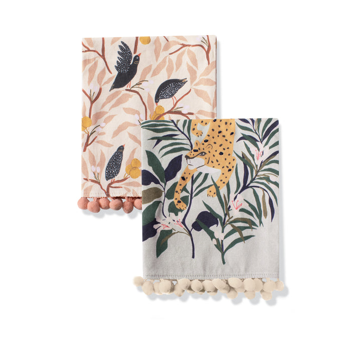 FRINGE STUDIO ANIMALS TEA TOWEL SET