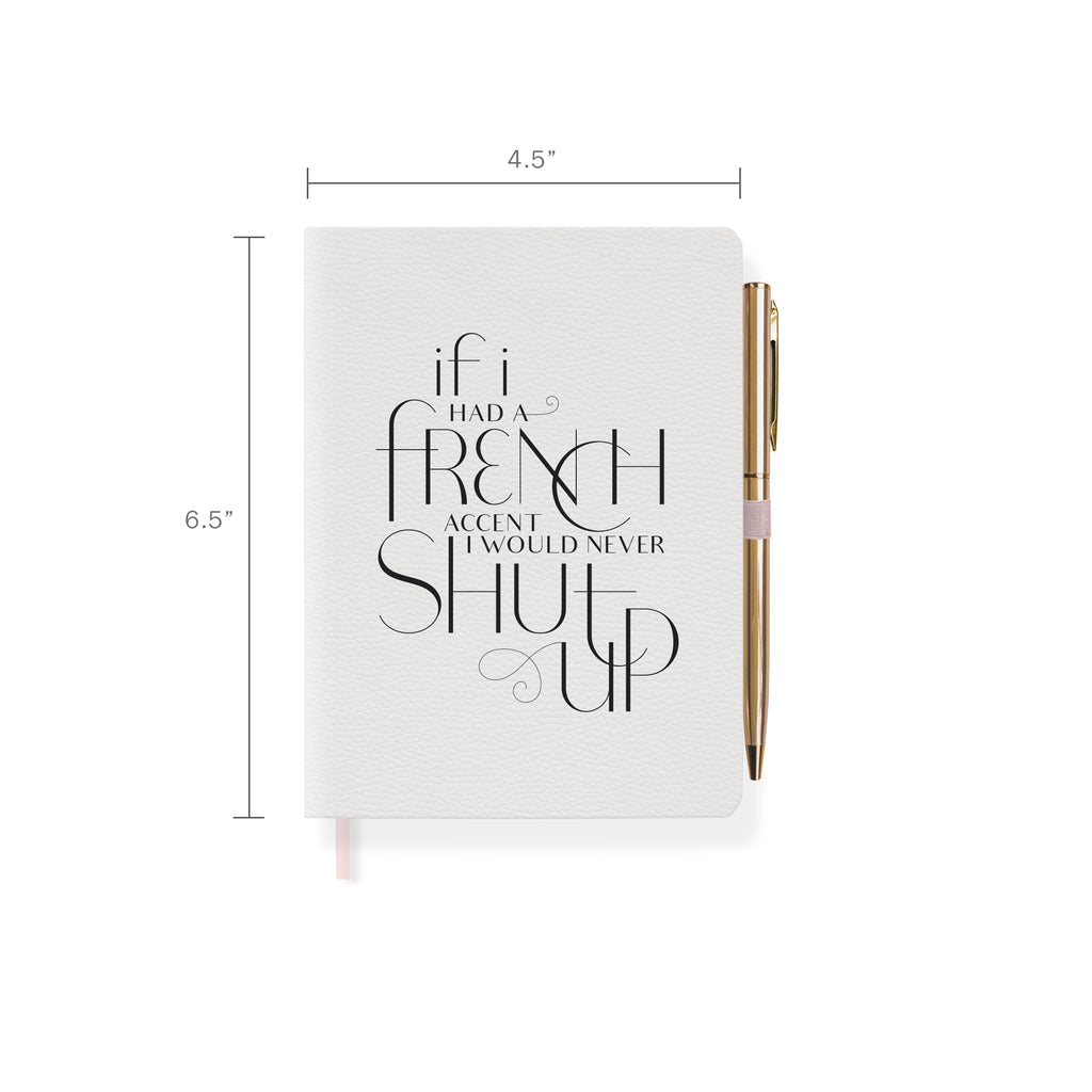 FRINGE STUDIO FRENCH ACCENT JOURNAL WITH SLIM PEN