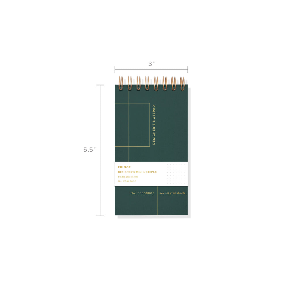 FRINGE STUDIO GRID MINI DESIGNER'S NOTEPAD