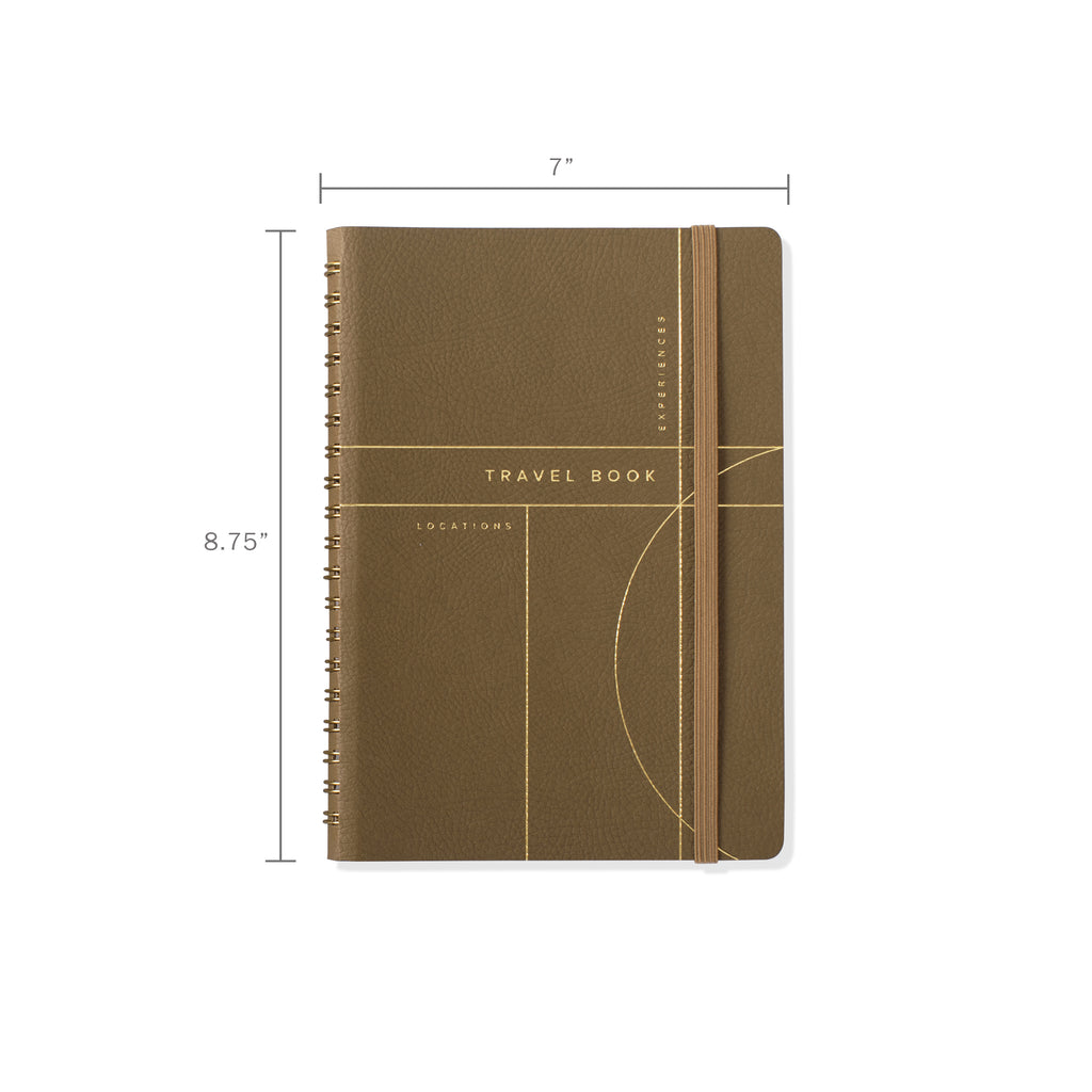 FRINGE STUDIO OLIVE CIRCLE GRID SMALL TRAVEL BOOK