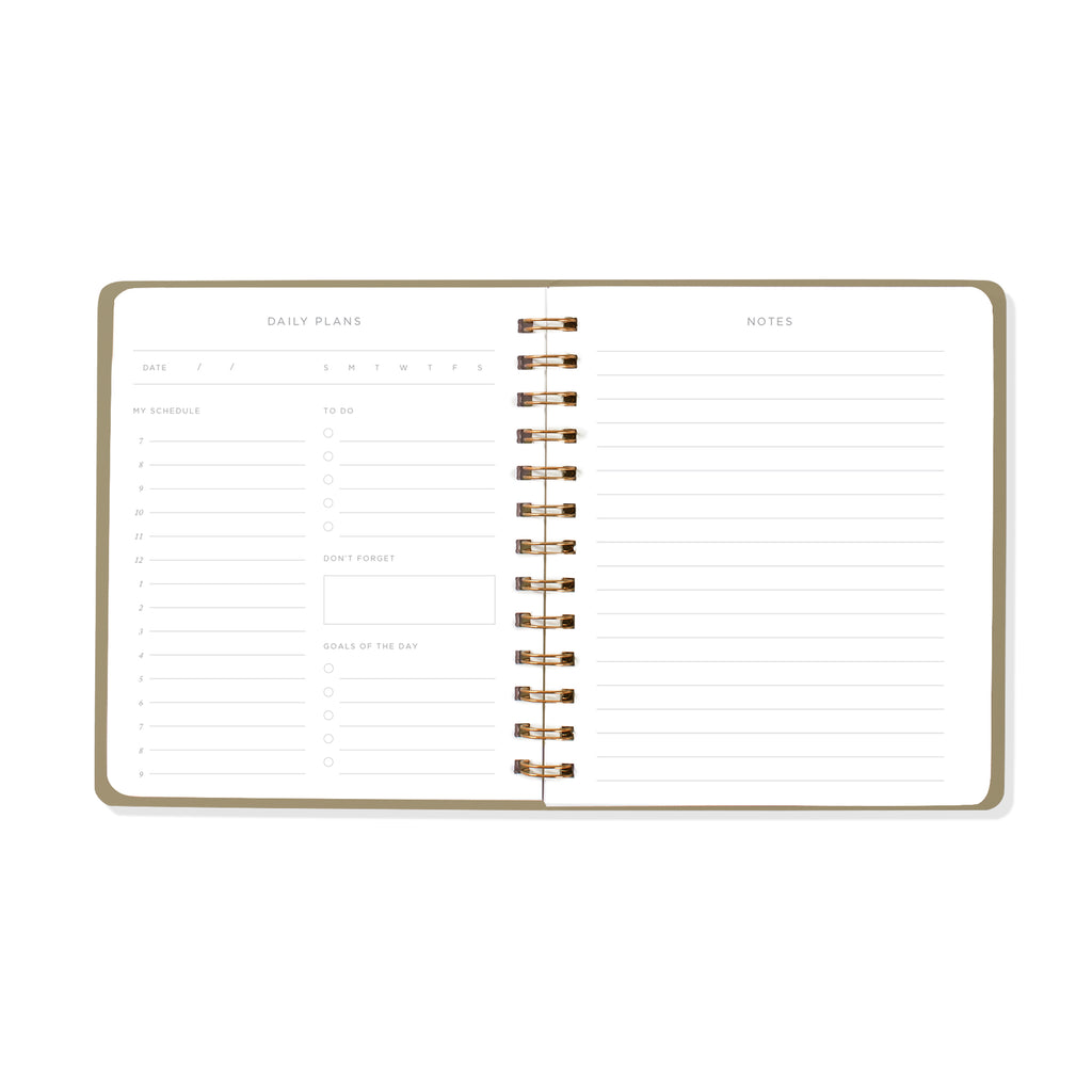 FRINGE STUDIO BLACK NON-DATED DAILY PLANNER