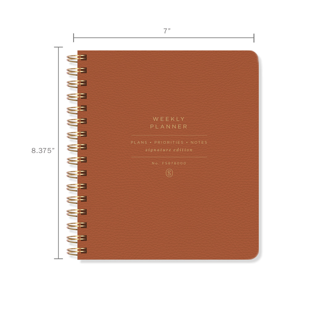 FRINGE STUDIO COGNAC NON-DATED WEEKLY PLANNER