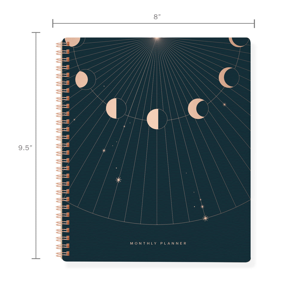 FRINGE STUDIO MOON RAYS NON-DATED MONTHLY PLANNER