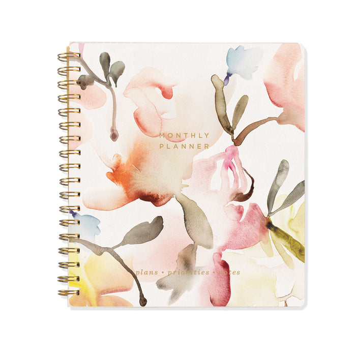 FRINGE STUDIO FLORAL NON-DATED MONTHLY PLANNER