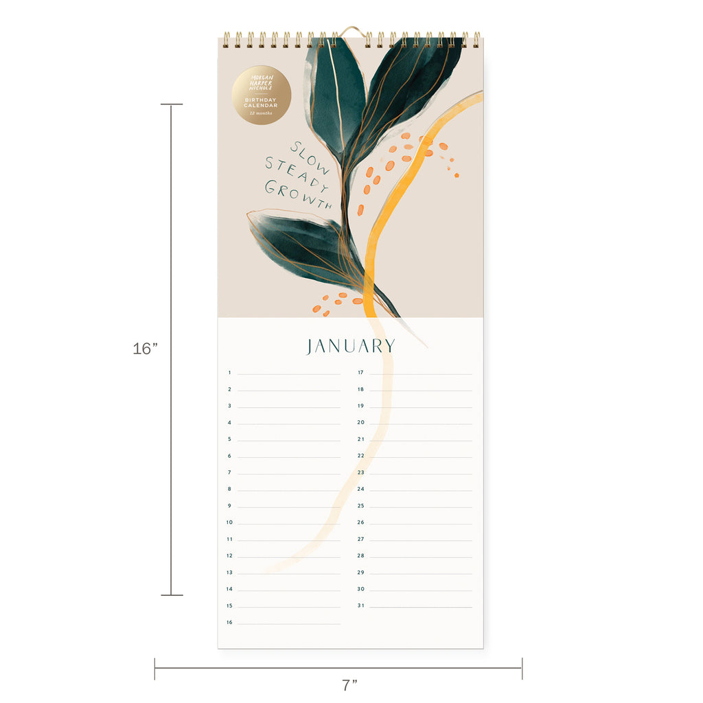 FRINGE STUDIO PAINTED BIRTHDAY WALL CALENDAR