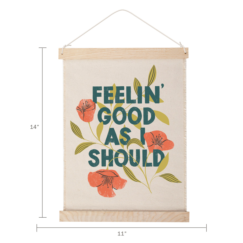 FRINGE STUDIO FEELIN' GOOD CANVAS WALL HANGING