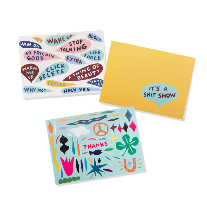 FRINGE STUDIO HAVE FUN THANK YOU NOTECARDS