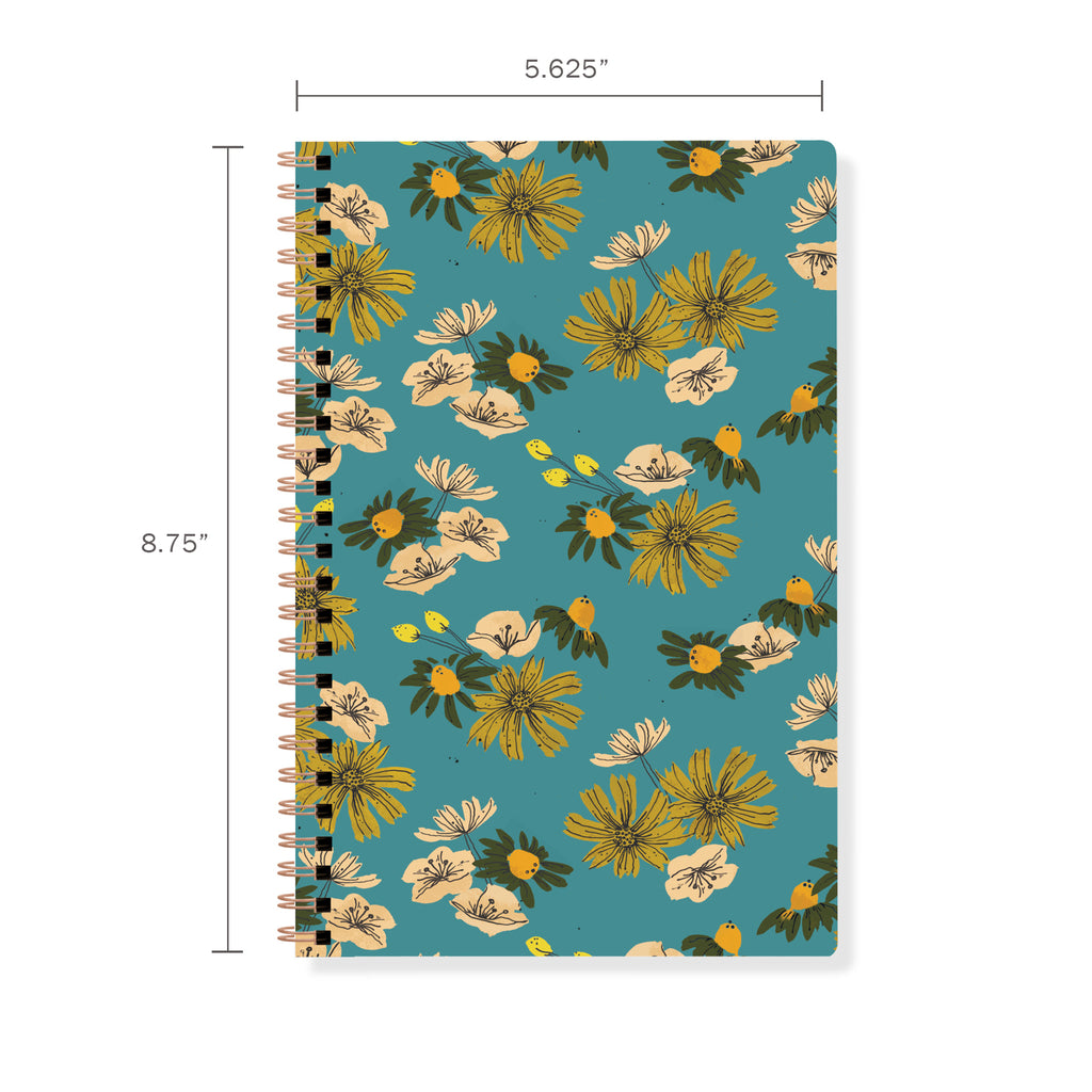 FRINGE STUDIO FLORAL SPIRAL JOURNAL