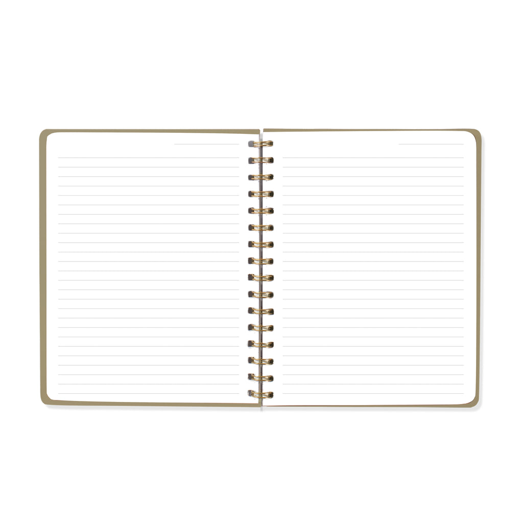 FRINGE STUDIO BOLD TYPE MAUVE NOTEBOOK