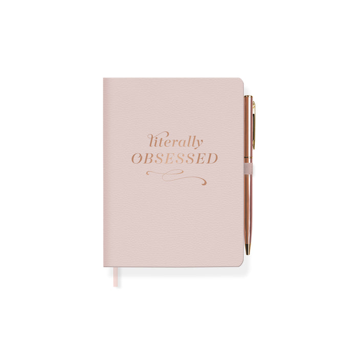 FRINGE STUDIO LITERALLY OBSESSED JOURNAL WITH SLIM PEN