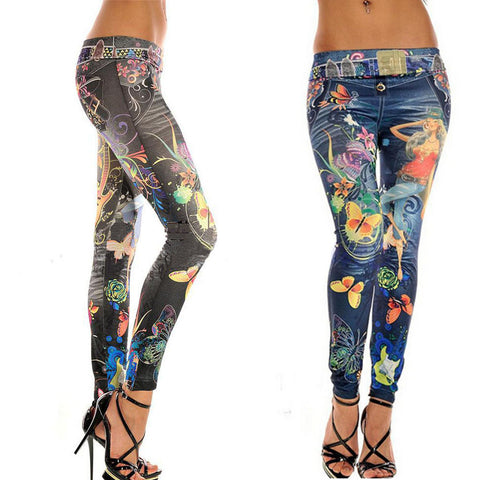 New Women Autumn Winter Jeans Leggings Stretch Skinny Pencil Pants