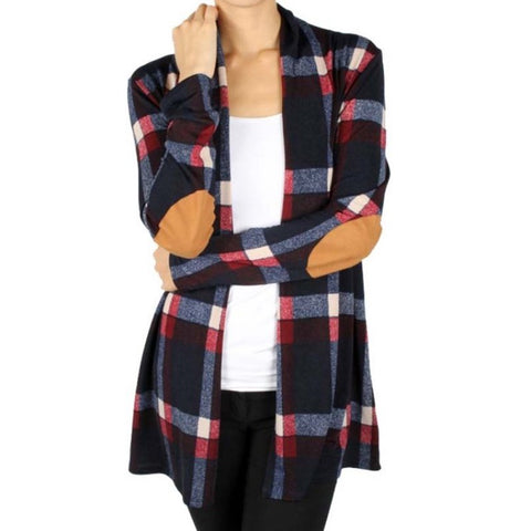 Women's Long Sleeve Cardigan  Autumn Winter Sanded Loose Plaid Shirt Tops Girl Outerwear Cotton Shirts
