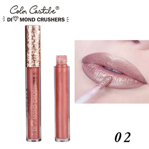 Color Castle Sexy Metallic Colors Matte Lipstick Waterproof Lasting Matter Shimmer Nude Liquid Lipstick Lip Gloss Cosmetic