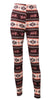 Image of Cotton Womens Xmas Snowflake Reindeer Knitted Warm Winter Knitted High Waist Tight Leggings Pants