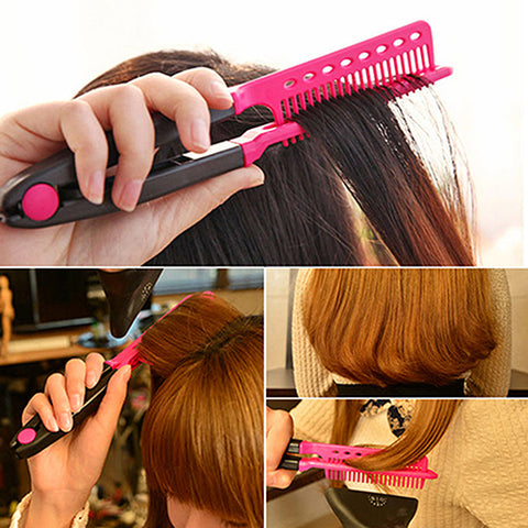 Hair Straightener Comb DIY Salon Hairdressing Styling Tool