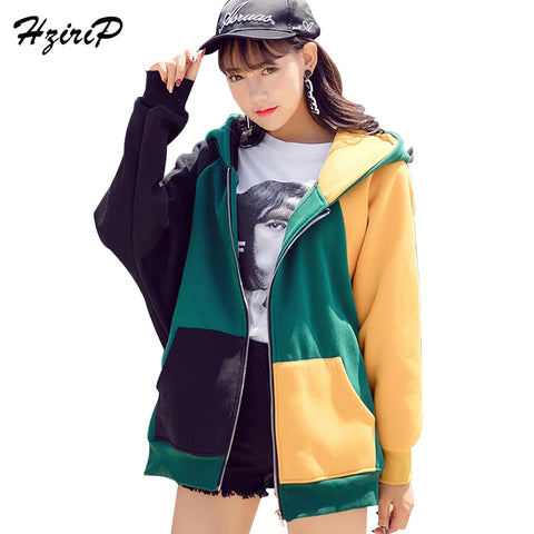 Warm Jacket Women Autumn Winter Hoodies Front Pocket Coat Female Size S-XXL