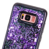Image of LOVECOM For Samsung S8 S8Plus Shell Love Heart Bling Quicksand Dynamic Liquid Glitter Phone Case Black Side Soft TPU Back Covers