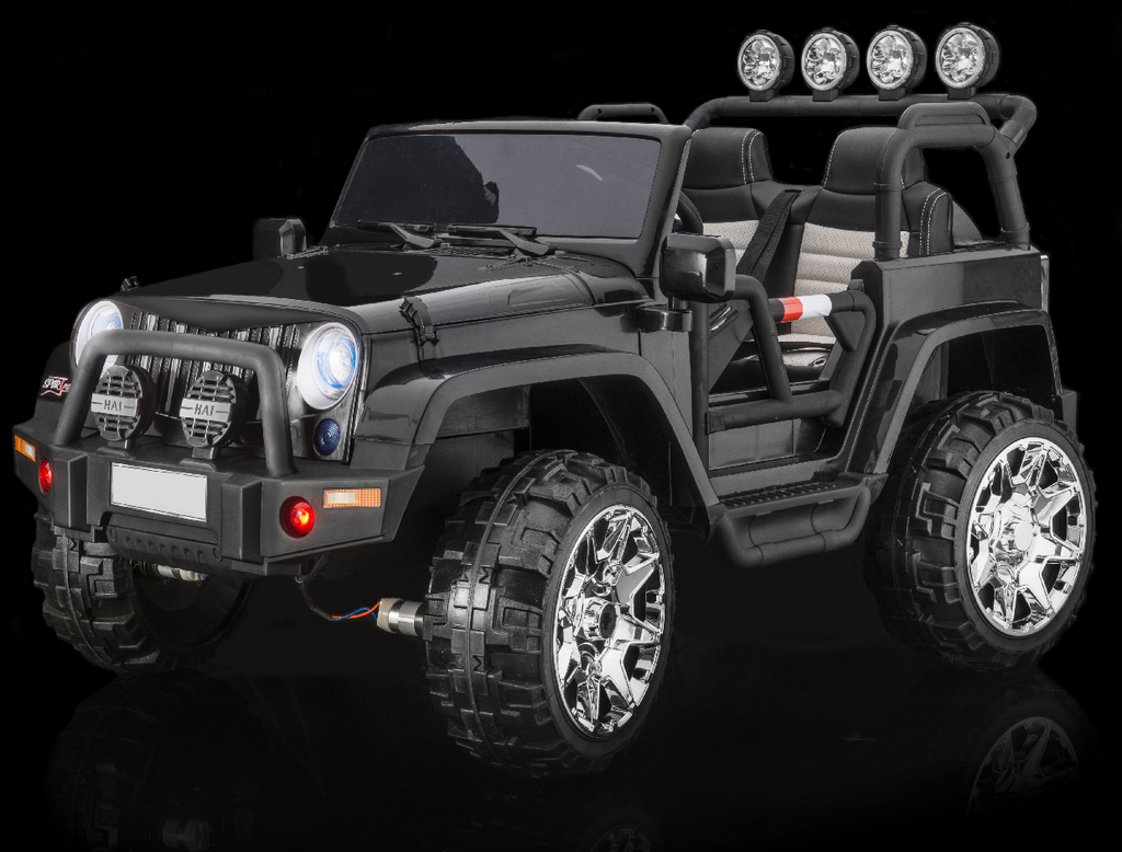 Rubber Tires Fully Loaded 2 Seater 4x4 Electric Ride On Jeep Style 24 Magiccars