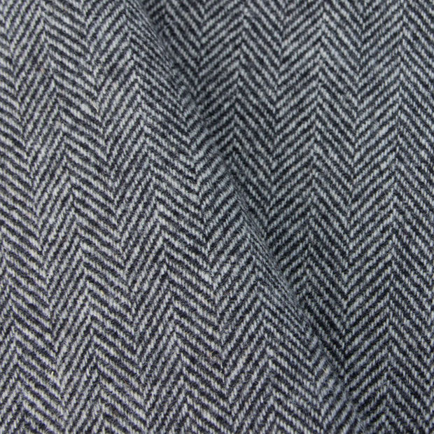 Black & White Herringbone wool